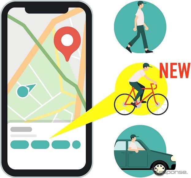 地図アプリ「ここ地図」、自転車ルートを追加《写真提供 ナビタイムジャパン》
