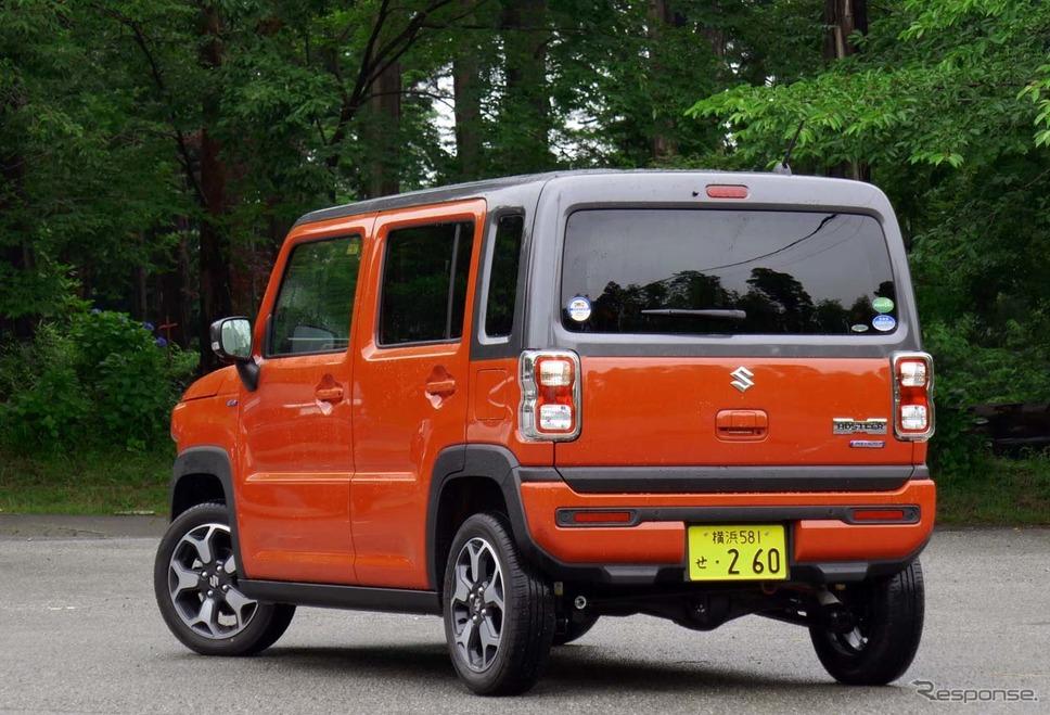 新型ハスラー「ハイブリッドXターボ4WD」《写真撮影 会田肇》