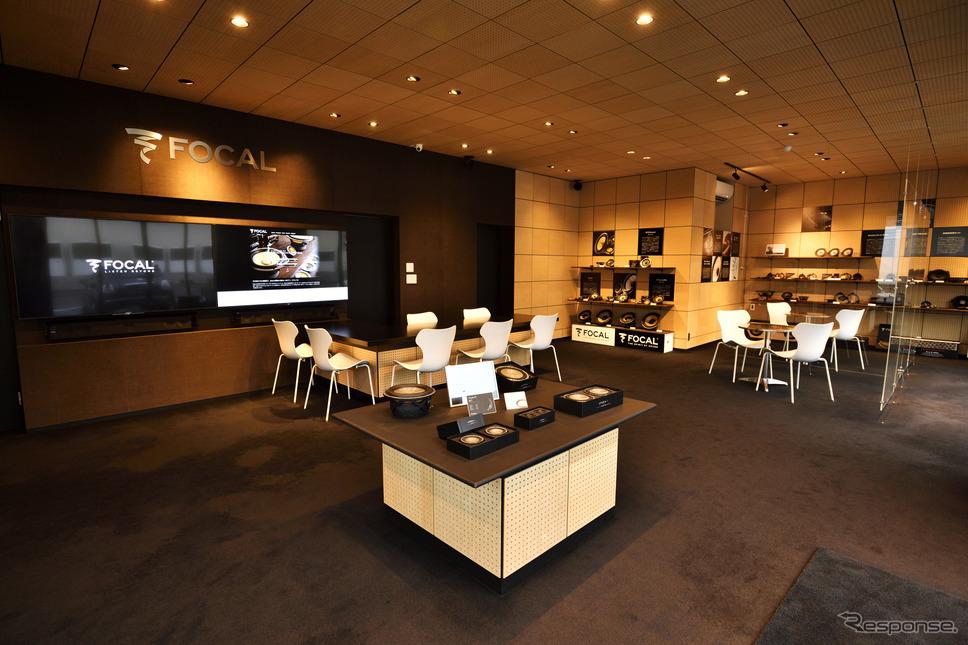 フォーカル プラグ&プレイストアは店内スペースを理路整然とオシャレな雰囲気を作り出している《写真撮影 フォーカル・オーディオ・ジャパン》