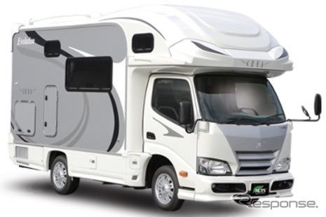 出展予定のキャンピングカー:クレア エボリューション 5.3W(ナッツRV)。就寝定員5名、家族みんなで出かけられる。《写真提供 東京キャンピングカーショー2020実行委員会》