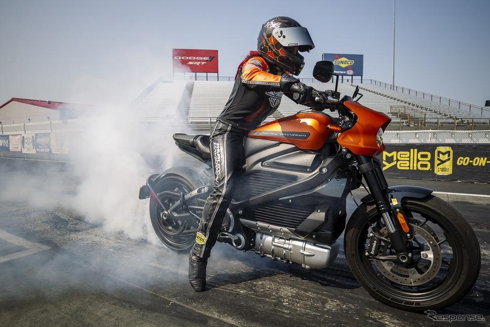 ハーレー ライブワイヤー、市販電動バイクの最速記録を樹立《写真提供 ハーレーダビッドソンジャパン》