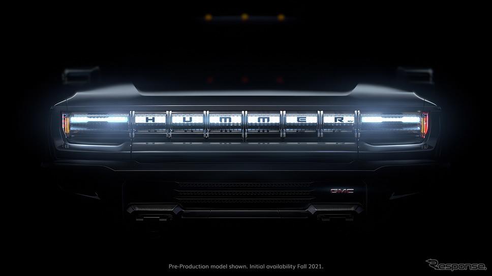 GMC ハマー EVのティザーイメージ《photo by GMC》