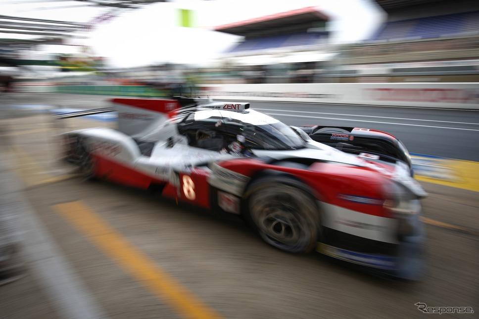 トヨタチームのウォームアップ(ルマン24時間レース、9月19日)《photo by Toyota GAZOO Racing》