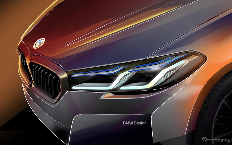 BMW 5シリーズ改良新型スケッチ《写真提供 ビー・エム・ダブリュー》