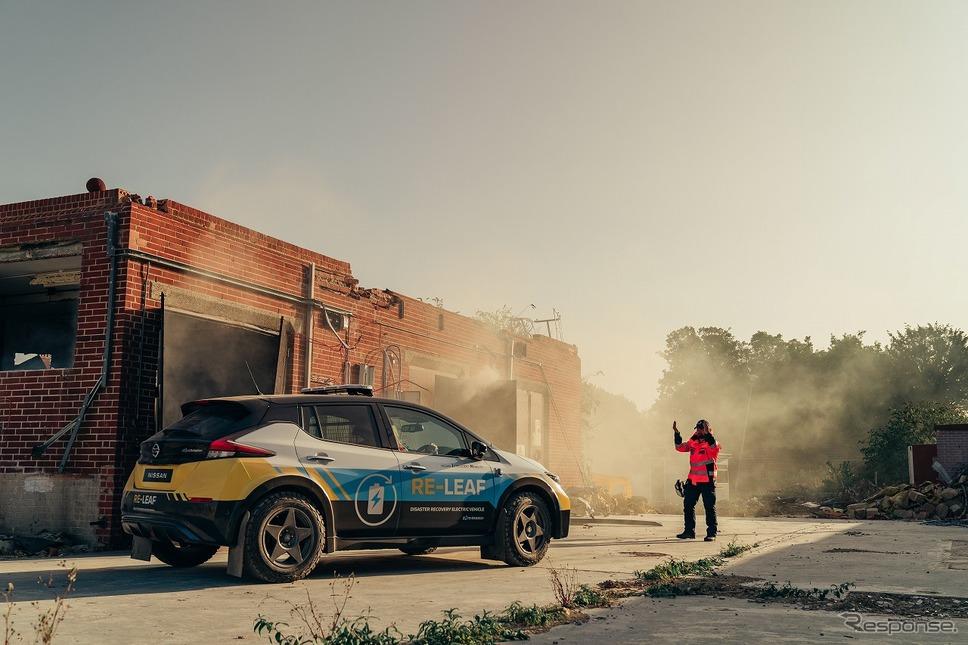 災害復旧支援コンセプトカー RE-リーフ《写真提供 日産自動車》