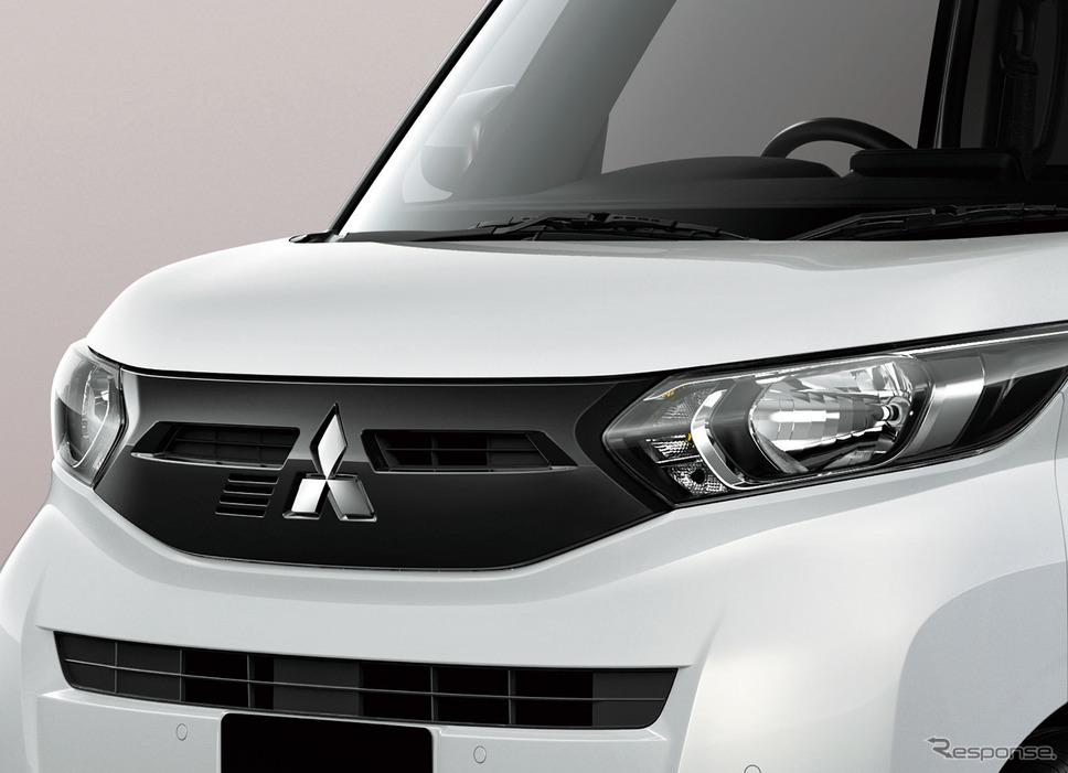 三菱 eKスペースのターボ車「T」はブラックのグリルを装着《写真提供 三菱自動車》
