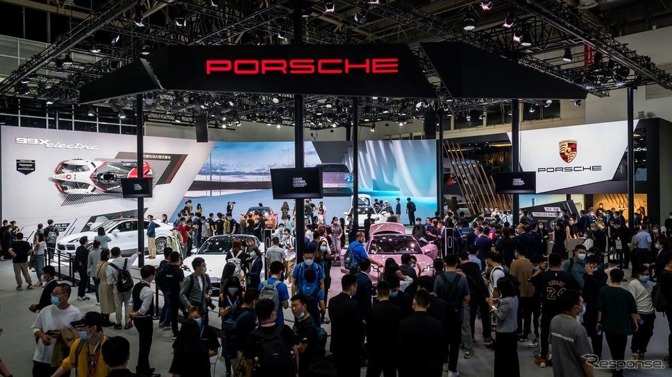 ポルシェのブース(北京モーターショー2020)《photo by Porsche》