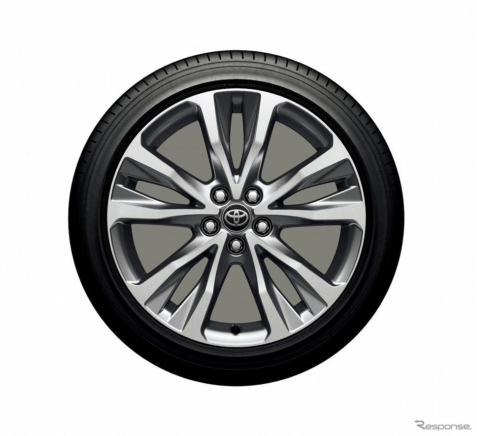 17インチアルミホイール(切削光輝+ミディアムグレーメタリック塗装)《写真提供 トヨタ自動車》