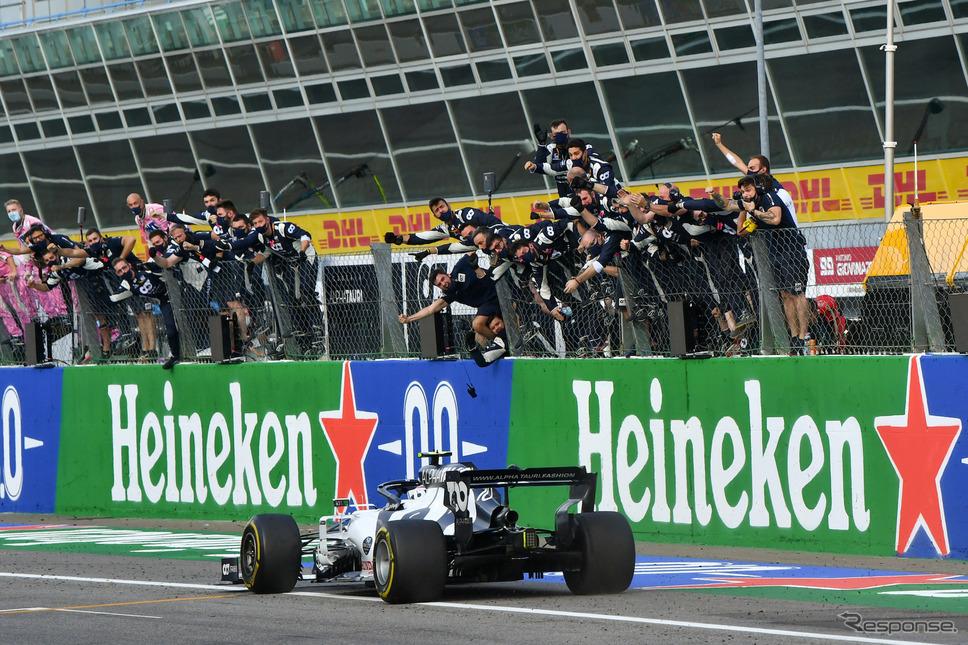 イタリアGPで優勝したピエール・ガスリー(アルファタウリ)《写真提供 ホンダ》