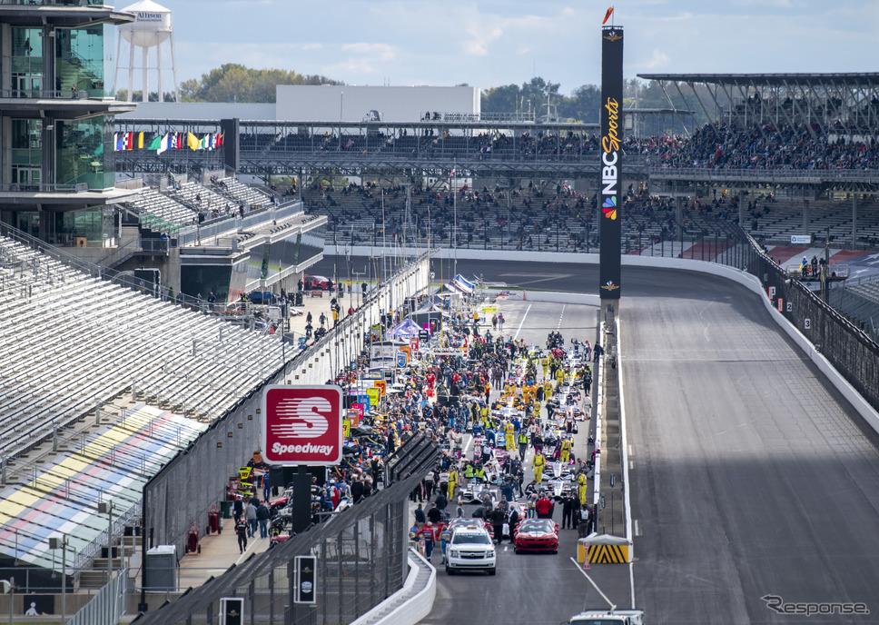 インディ・ロードコースでのダブルヘッダー、レース2(シリーズ第13戦)は現地翌日の開催。《写真提供 INDYCAR》