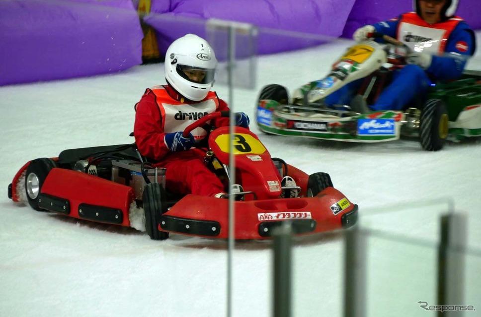 日本EVクラブが主催する第1回「SDGs ERK on ICE〜氷上の電気レーシングカートの祭典」、新横浜スケートセンターで開催された《写真撮影 会田肇》