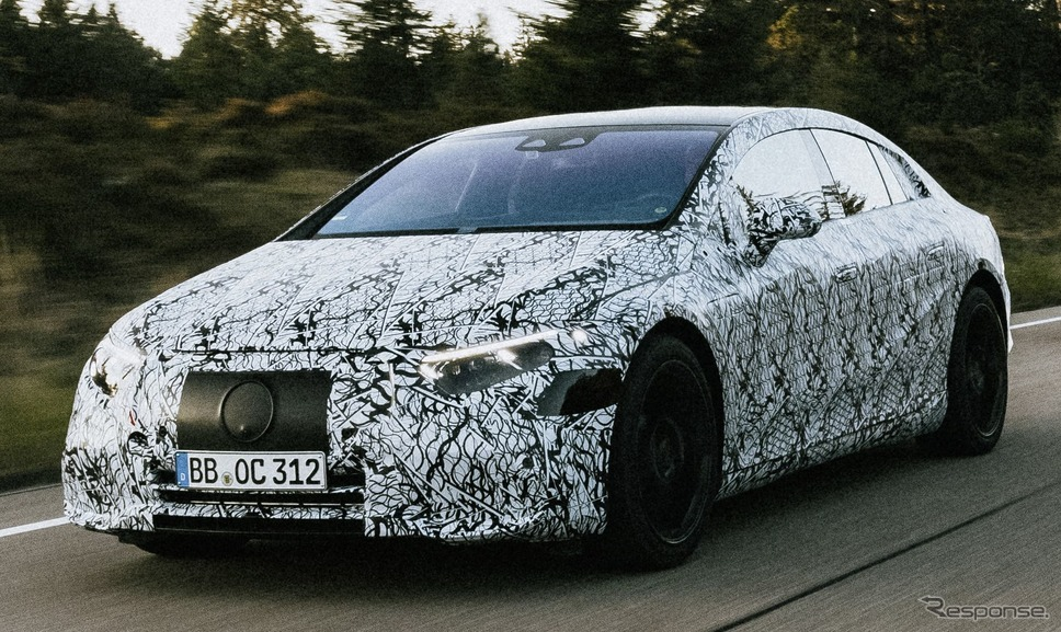 メルセデスベンツ EQS のプロトタイプ《photo by Mercedes-Benz》