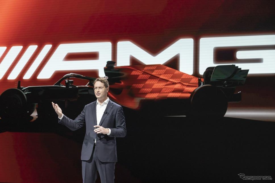 メルセデスベンツの投資家向けバーチャル説明会で電動化の加速を中心にした新戦略を発表するオラ・ケレニウスCEO《photo by Mercedes-Benz》