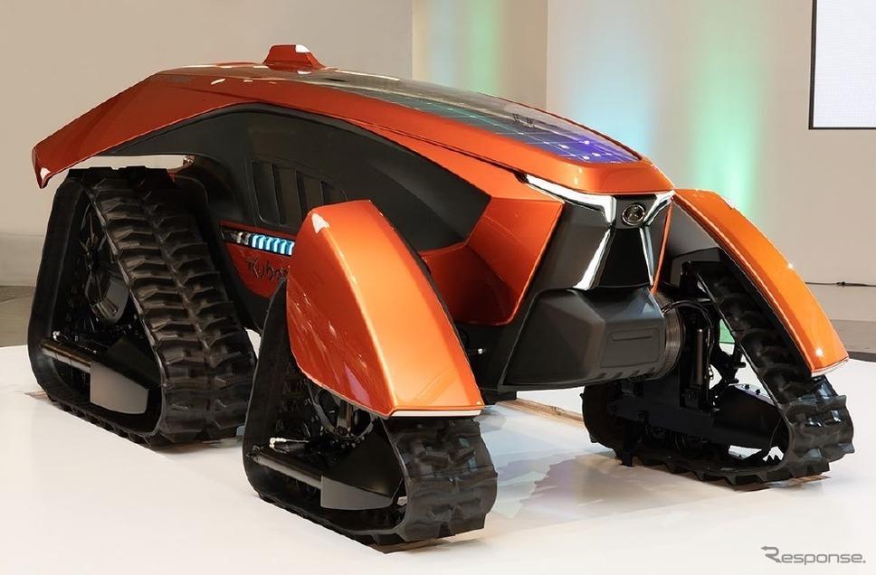 クボタが開発中の自動運転農業機械《写真提供 NVIDIA》