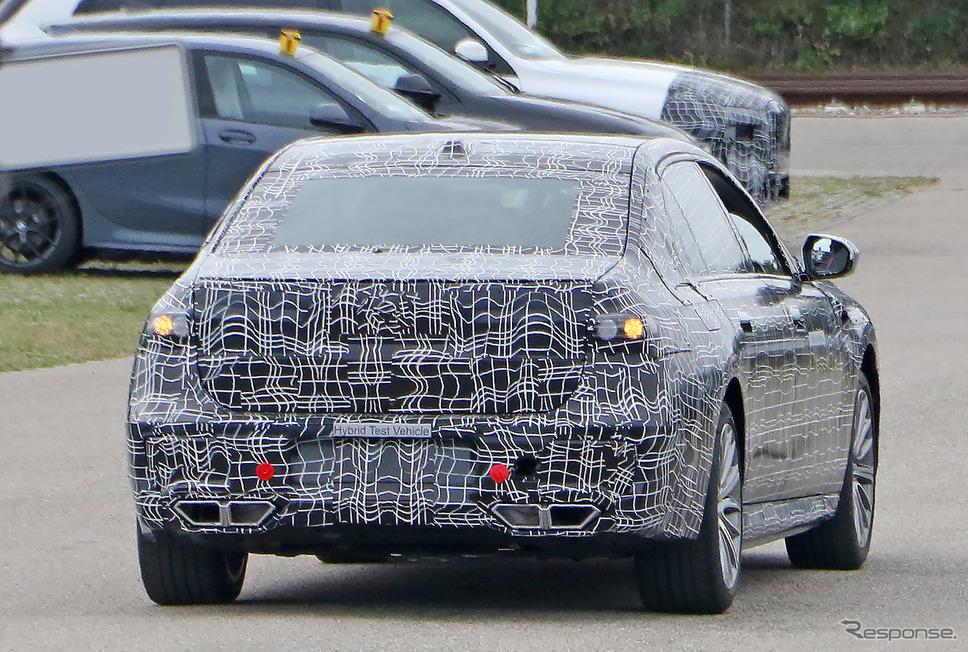 BMW 7シリーズ PHEV次期型プロトタイプ(スクープ写真)《APOLLO NEWS SERVICE》