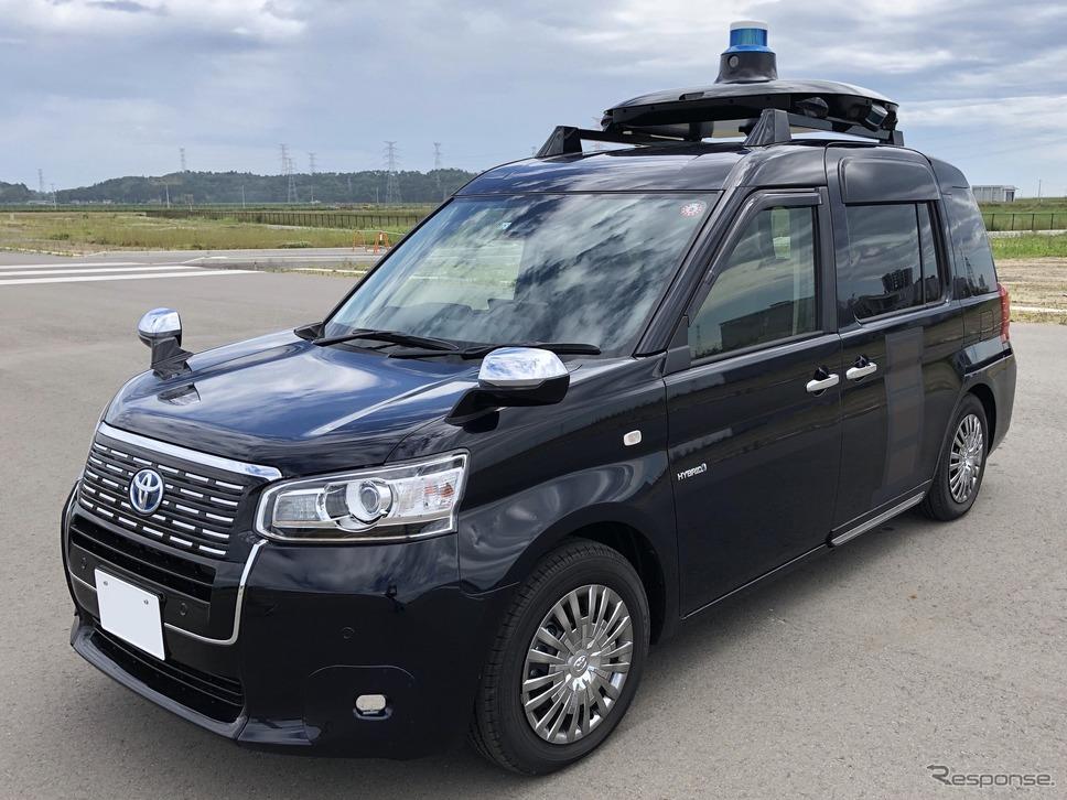 自動運転システムを導入したJPN TAXI《写真提供 Mobility Technologies》