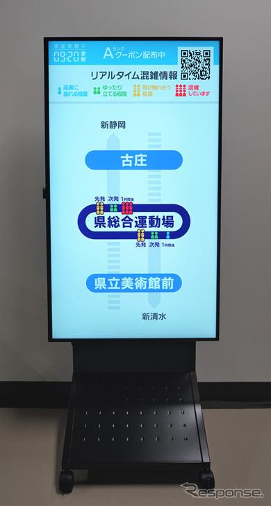 駅に設置されるデジタルサイネージのイメージ《画像提供 三菱電機》