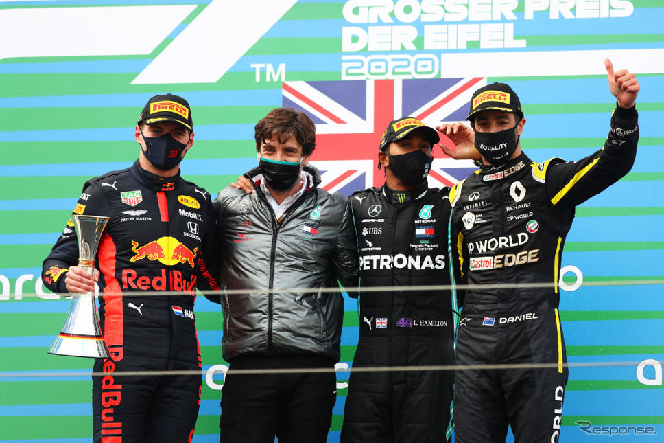F1アイフェルGP《Photo by Matthias Schrader - Pool/Getty Images Sport/ゲッティイメージズ》