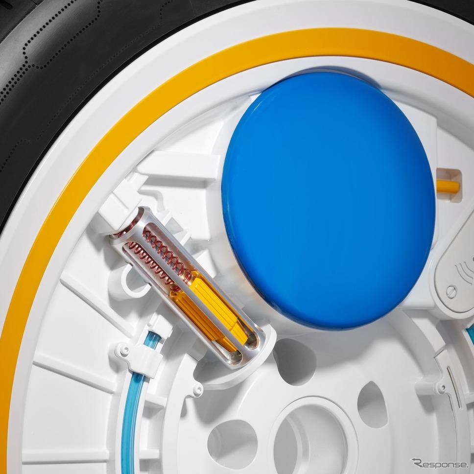 コンチネンタルの通信するタイヤ「コンチ・ケア」《photo by Continental》