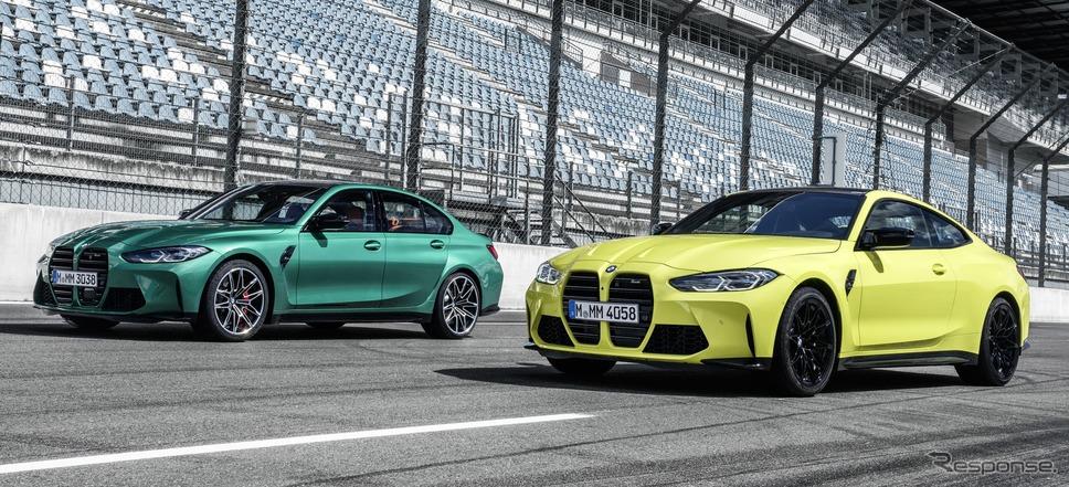 BMW M3 セダン 新型と M4 クーペ 新型
