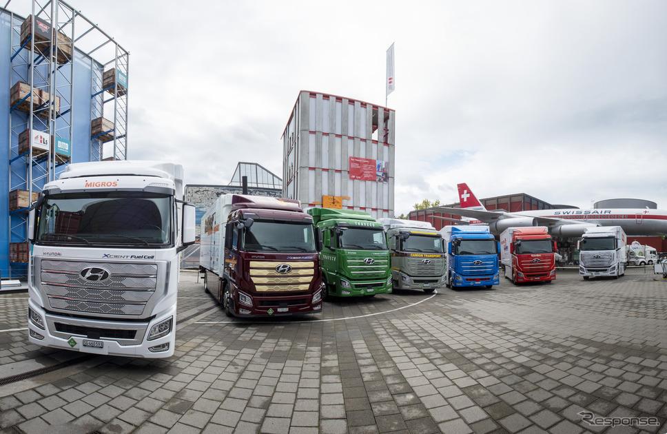 燃料電池トラック、ヒュンダイ・エクシェント《photo by Hyundai》