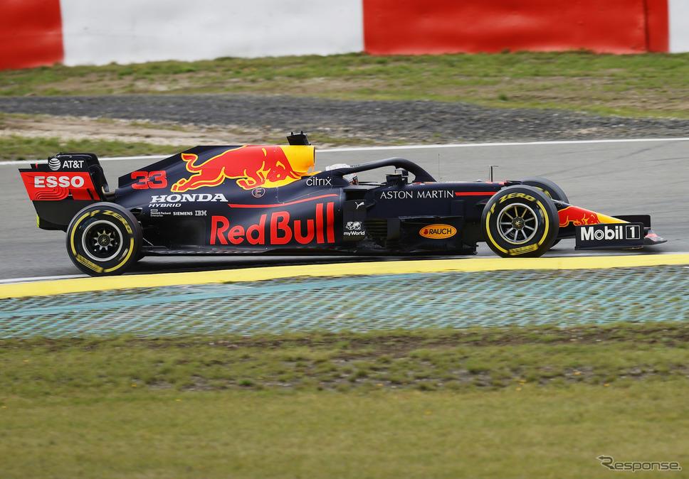 レッドブル・ホンダの#33 M.フェルスタッペン(20年F1アイフェルGP)。《写真提供 Honda》
