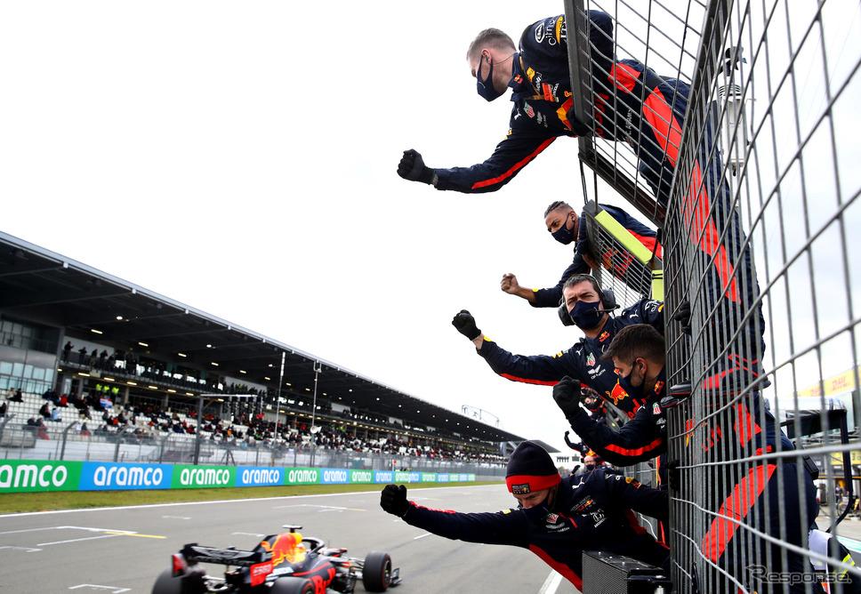 先週末のF1アイフェルGP、レッドブル・ホンダのフェルスタッペンは2位でゴール。《写真提供 Honda》