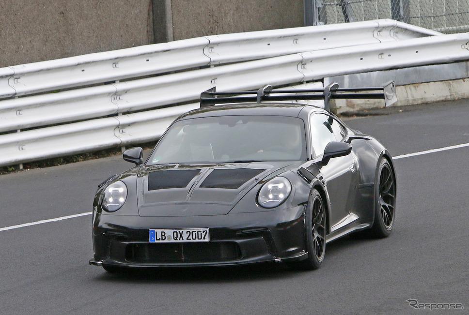 ポルシェ 911 GT3 RS 次期型プロトタイプ(スクープ写真)《APOLLO NEWS SERVICE》