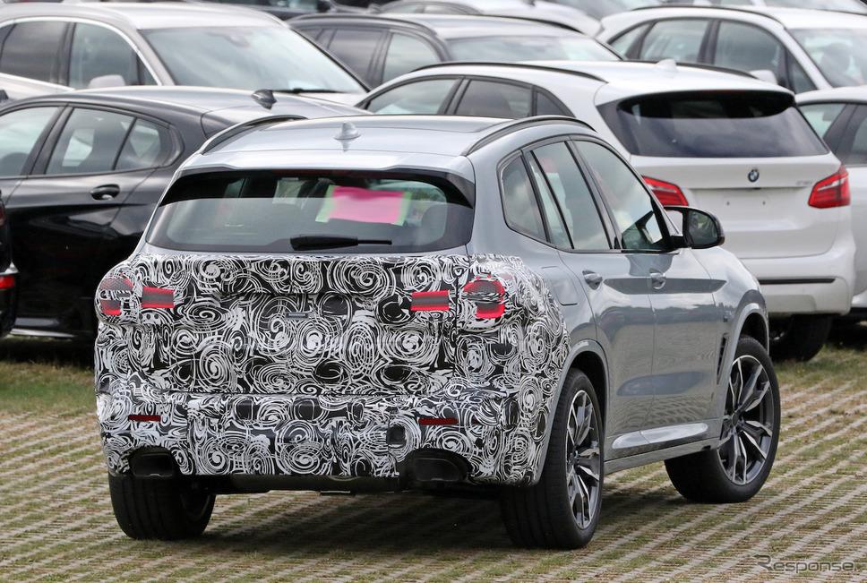 BMW X3 M40i 改良新型プロトタイプ(スクープ写真)《APOLLO NEWS SERVICE》