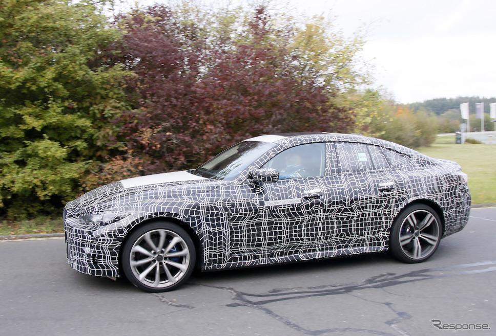 BMW i4M プロトタイプ(スクープ写真)《APOLLO NEWS SERVICE》
