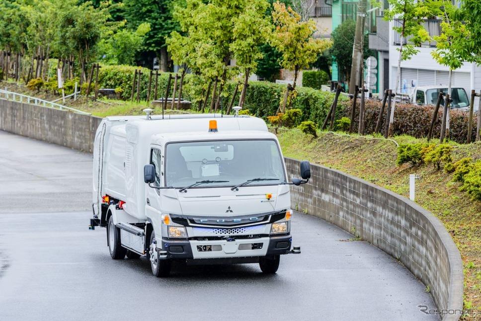 三菱ふそう eキャンター・センサーコレクト写真提供:三菱ふそうトラック・バス広報部
