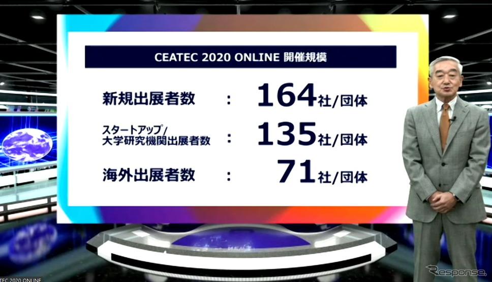 「CEATEC 2020 オンライン」のついて説明するCEATEC実施協議会エグゼクティブプロデューサーの鹿野清氏《写真:オンライン画面から》