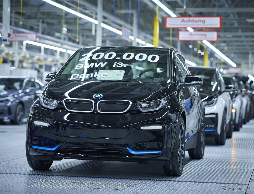 BMW i3 の20万台目がドイツ・ライプツィヒ工場からラインオフ《photo by BMW》