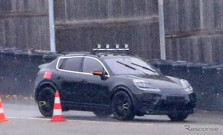 ポルシェ マカンEV 開発車両(スクープ写真)《APOLLO NEWS SERVICE》