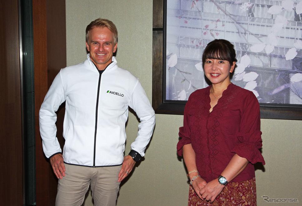 ヘイキ・コバライネン選手と竹岡圭さん《写真撮影 宮崎壮人》