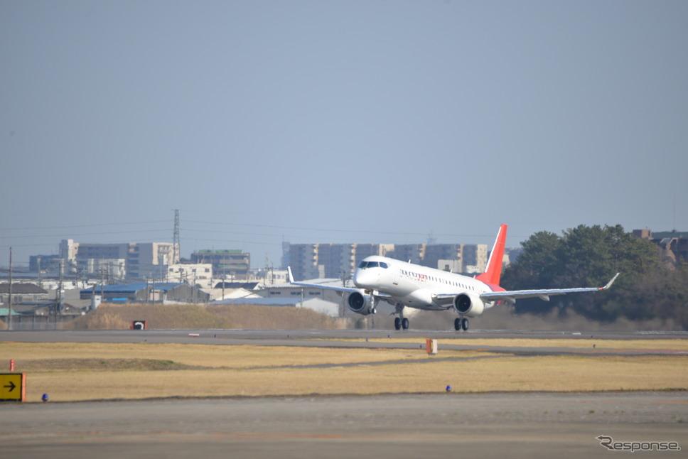 三菱『スペースジェットM90』10号機が初飛行(2020年3月18日)《写真撮影 三菱航空機》