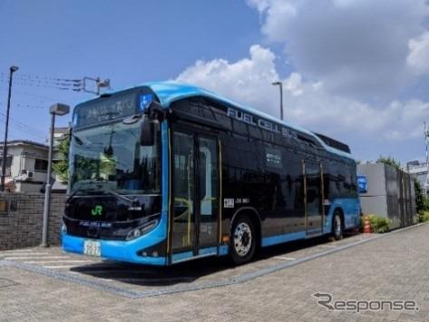 燃料電池バス《写真提供 JR東日本》