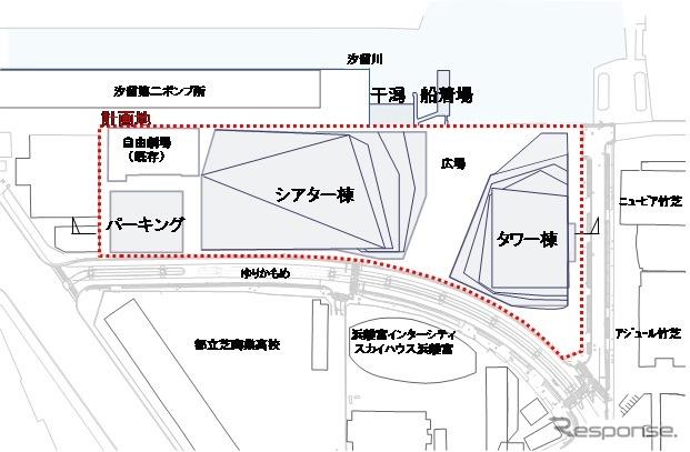 WATERS takeshiba 配置《図版提供 JR東日本》
