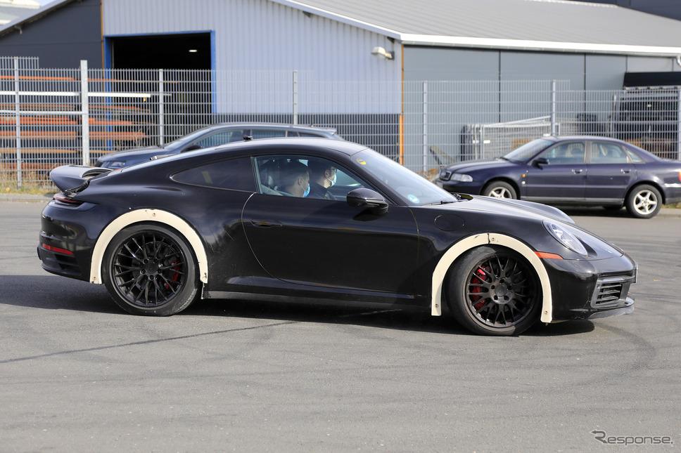 ポルシェ 911 謎の開発車両(スクープ写真)《APOLLO NEWS SERVICE》