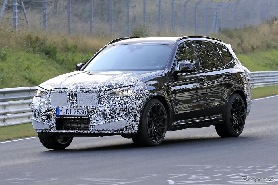 BMW X3M 改良新型プロトタイプ(スクープ写真)《APOLLO NEWS SERVICE》