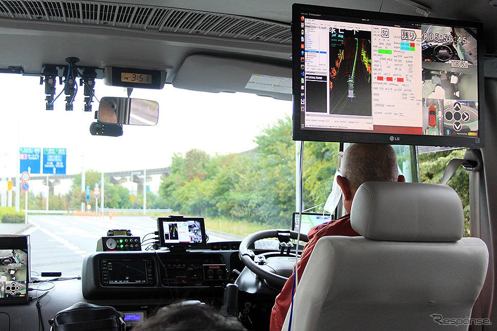 羽田空港で行われた東京臨海部実証実験 SIP自動運転(システムとサービスの拡張)に参画する埼玉工業大学 自動運転バス《写真撮影 大野雅人(Gazin Airlines)》