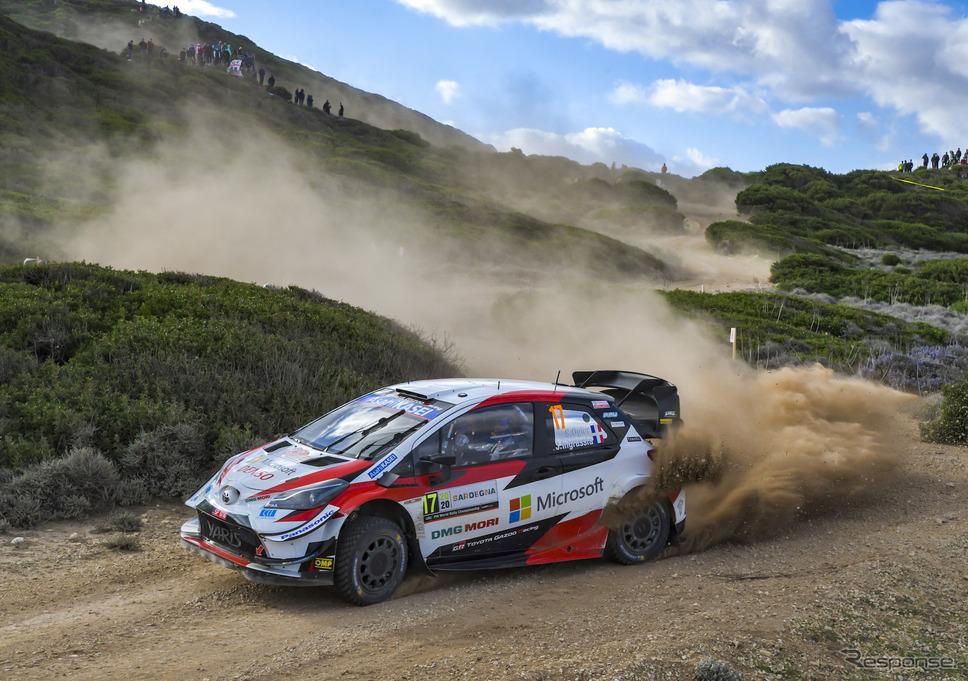 今季WRC第6戦サルディニア(イタリア)の模様。《写真提供 TOYOTA》