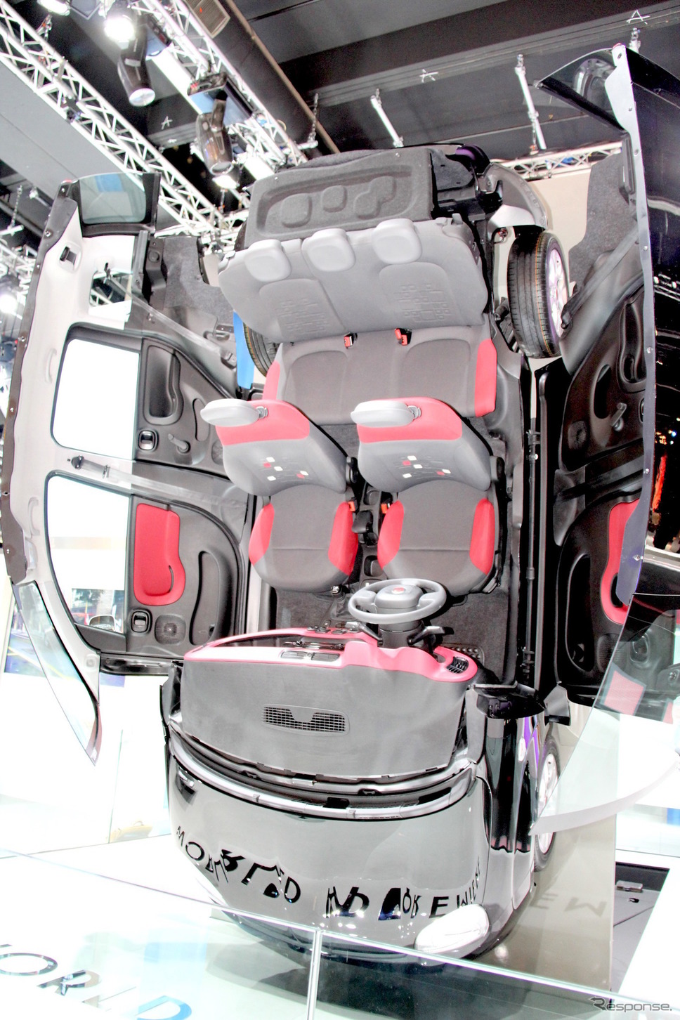 2011年フランクフルト・モーターショーにおける3代目フィアット・パンダ(319型)《photo by 大矢アキオ Akio Lorenzo OYA》
