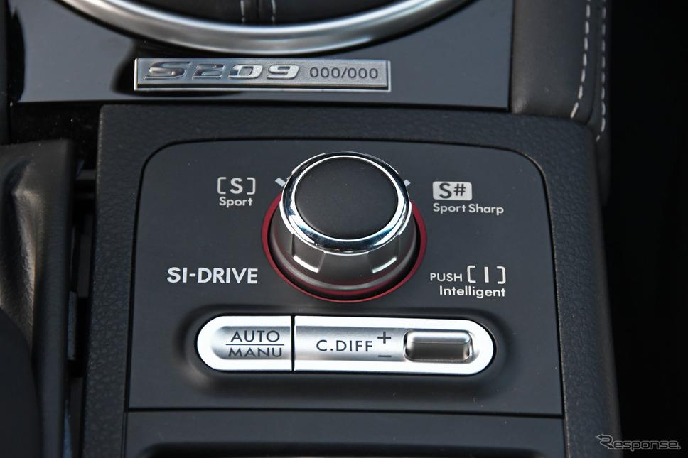 スバル STI S209 ドライバーズコントロールセンターデフ コントローラー《写真撮影 諸星陽一》