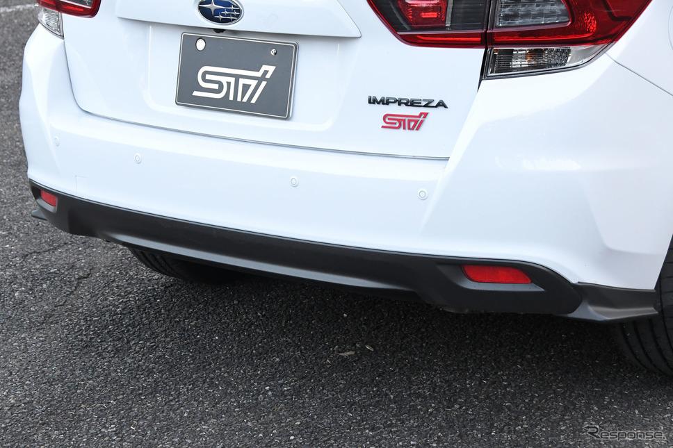 スバル インプレッサ STIスポーツ2.0 リヤアンダースポイラー《写真撮影 諸星陽一》