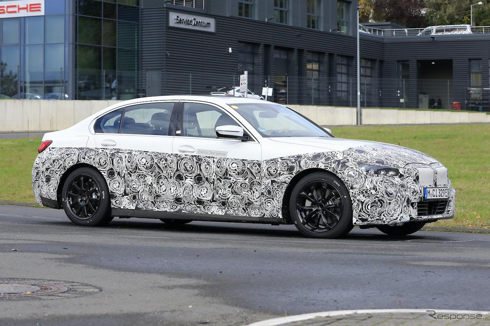 BMW 3シリーズEV(仮)市販型プロトタイプ(スクープ写真)《APOLLO NEWS SERVICE》