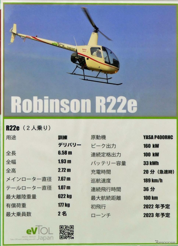 ロビンソンR22eのスペック《写真撮影 会田肇》