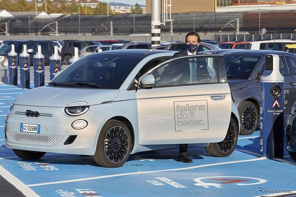 フィアット 500 新型だけを使用するカーシェアリングサービス「LeasysGO!」《photo by FCA》