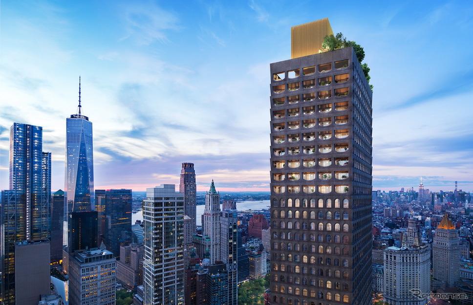 米国ニューヨークのタワーマンション「130ウィリアム」《photo by Aston Martin》