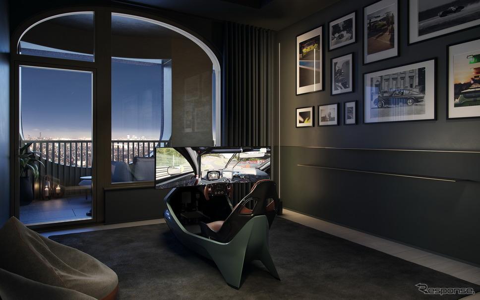 米国ニューヨークのタワーマンション「130ウィリアム」の「アストンマーティンホームズ」《photo by Aston Martin》